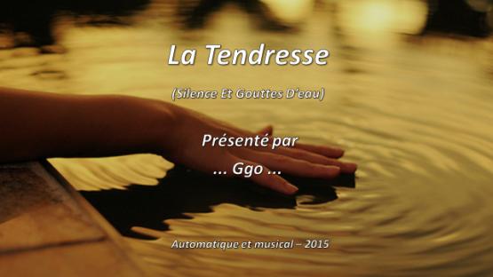 236-5 - La Tendresse (Silence et Gouttes d'eau) WP - P 1