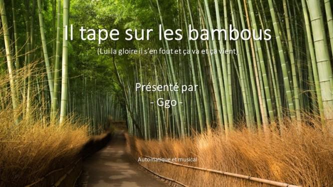 G-538 Il tape sur les bambous - Ggo